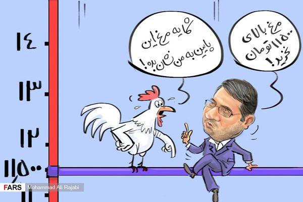 کاریکاتور/تعجب مرغها از قیمت گران خود!