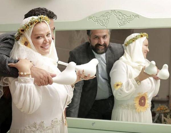 کبوتران عاشق بهاره رهنما و همسرش + عکس