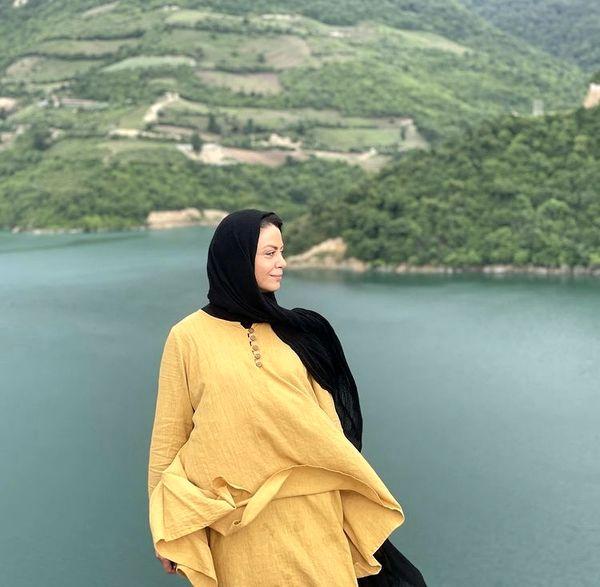استایل شبنم فرشادجو در کنار دریاچه + عکس
