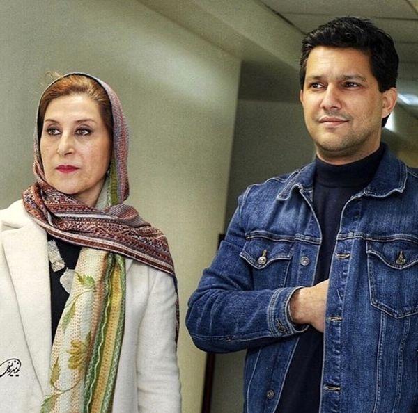 حامد بهداد در کنار بانوی سینمای ایران + عکس