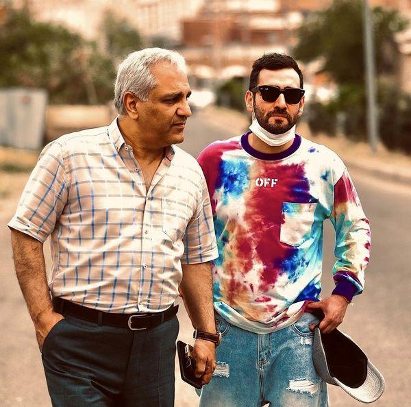 مهران مدیری و پسر دراکولایش + عکس