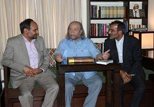 دیدار سرپرست فرهنگستان هنر با محمدعلی کشاورز