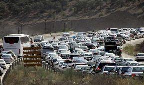 ترافیک سنگین در محور کرج - چالوس