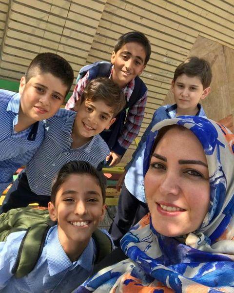المیرا شریفی مقدم و دو پسرش + عکس