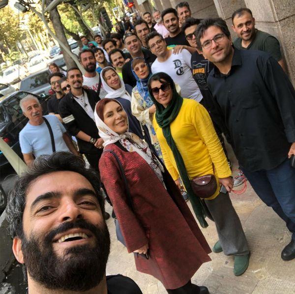 دل منوچهر هادی در خیابان پاسداران+عکس