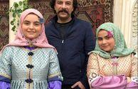 عکس شازده ارسلان بانوی عمارت با دخترانش