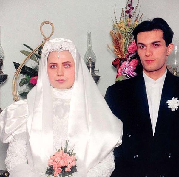 لعیا زنگنع در لباس عروسی اش + عکس