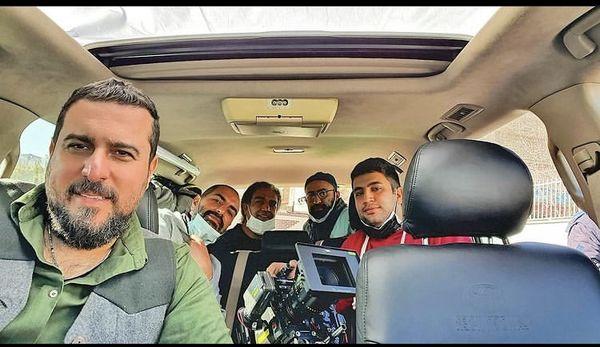 ماشین سواری محسن کیایی با دوستانش + عکس