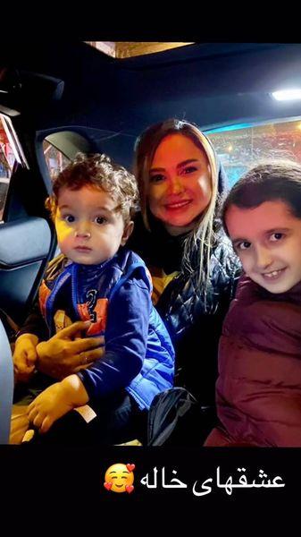 نیلوفر هوشمند وخواهرزاده هایش + عکس