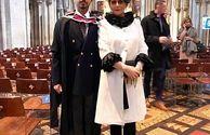 تیپ اروپایی هنگامه قاضیانی در مراسم فارغ التحصیلی پسرش در خارج+عکس