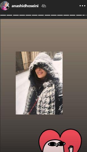 عکس ملکه برفی آناشید حسینی