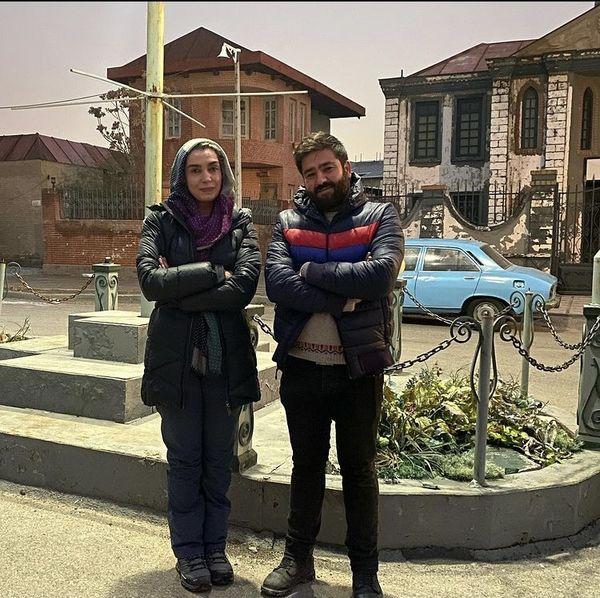 الیکا عبدالرزاقی در کنار دوستش + عکس