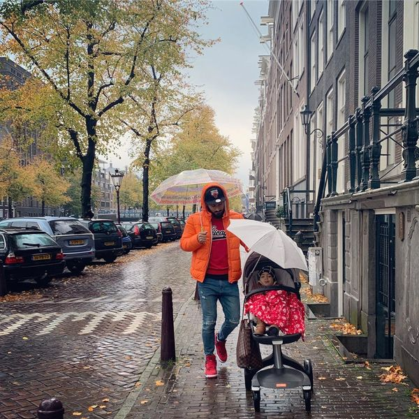 قدم زدن عاشقانه رضا قوچان نژاد و پسرش+عکس