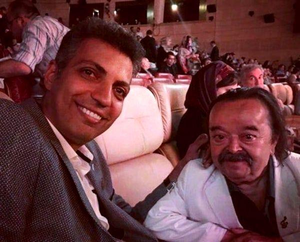 عادل فردوسی پور در کنار مرد کوچک سینمای ایران + عکس