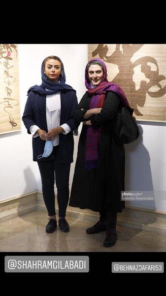 شبنم فرشادجو و بهناز جعفری در یک گالری + عکس