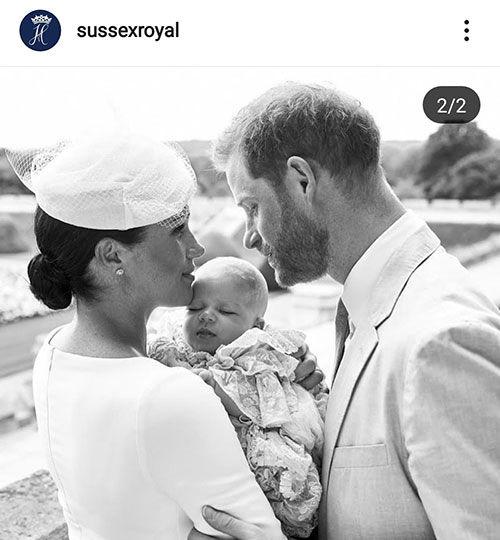 شاهزاده هری و همسر و پسرش در مراسم رسمی+عکس