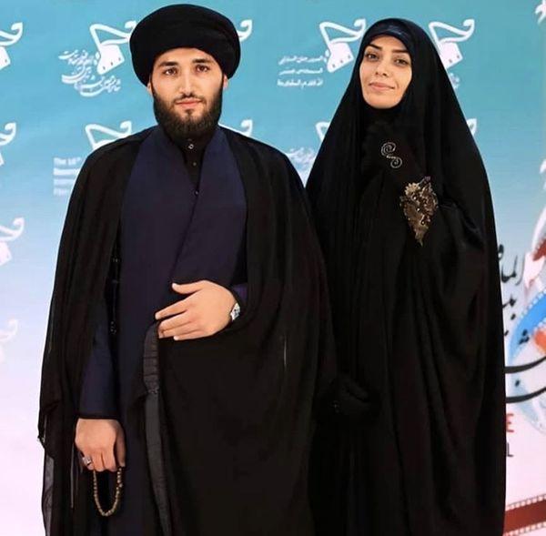 الهام چرخنده و همسر روحانیش + عکس