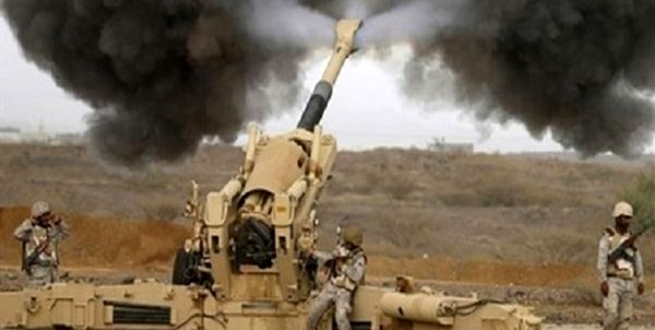 حمله توپخانه ارتش عربستان به شمال یمن