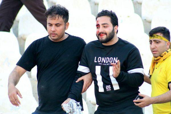 باز هم سنگ و خون در غدیر اهواز + عکس