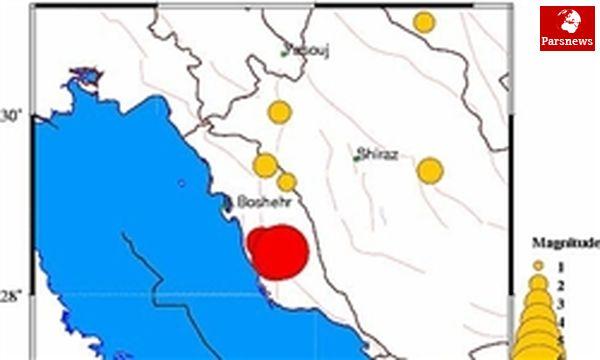 وقوع ۳ زمینلرزه در بوشکان استان بوشهر