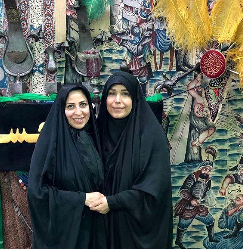 خانم مجری و قدیمی ترین تکیه تهران+عکس