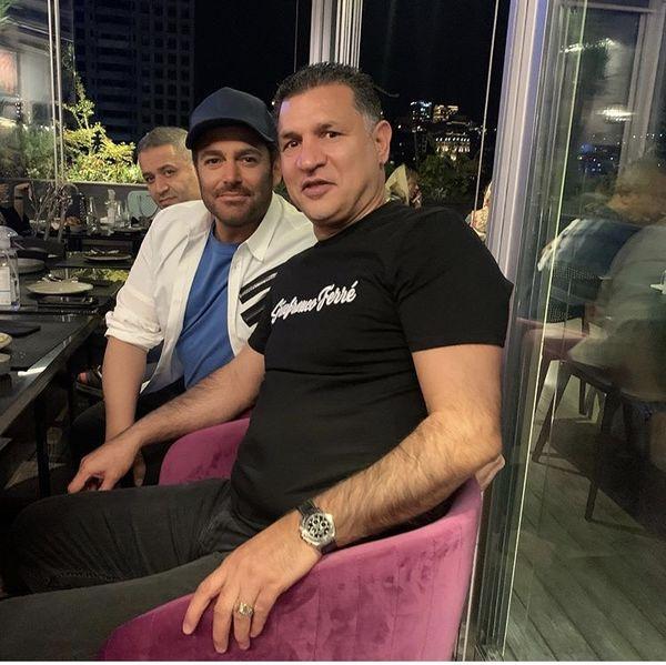 بازیگر و فوتبالست مشهور در یکی از رستورانهای تهران + عکس