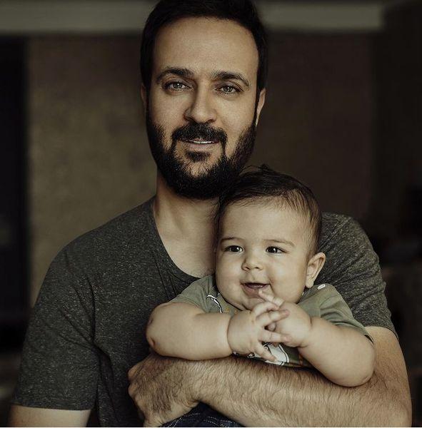 احمد مهرانفر با پسر بامزه اش + عکس