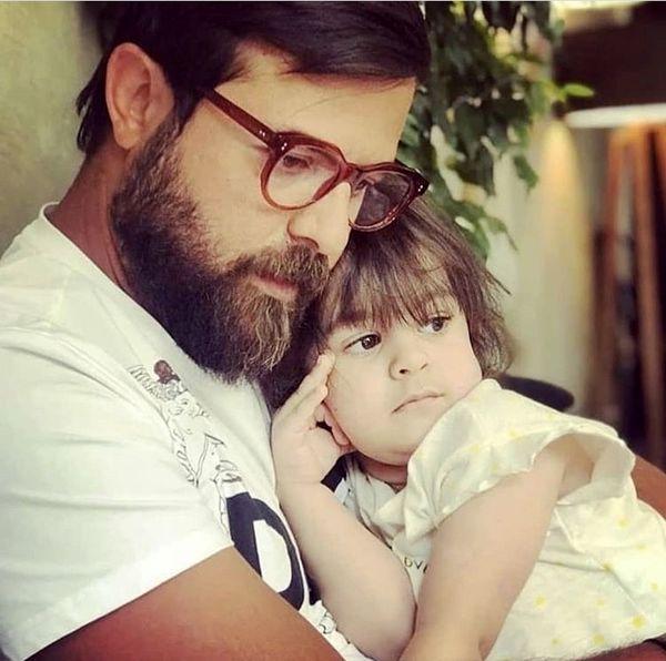 هومن سیدی و دخترش + عکس