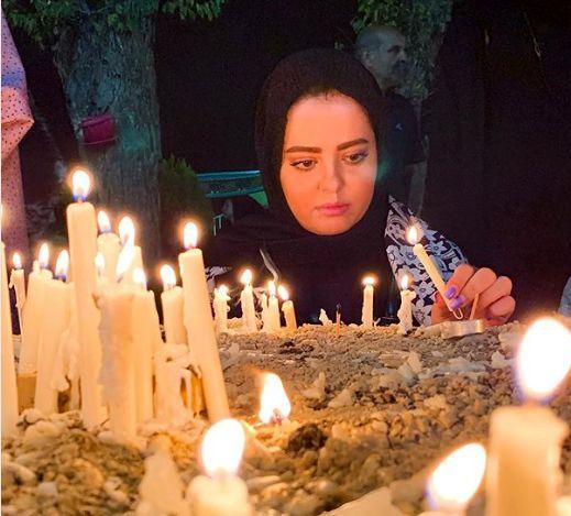 مهسا ایرانی در شب شام غریبان+عکس