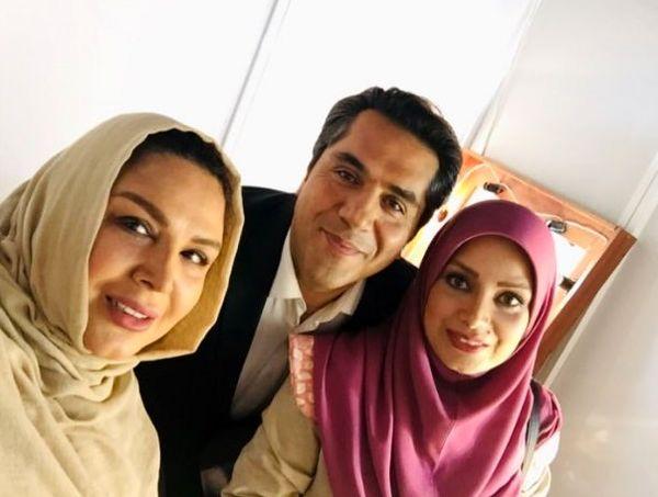سلفی شهره سلطانی با زوج هنرمند