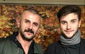 قیافه حبس کشیده امین حیایی  در کنار پسرش+عکس