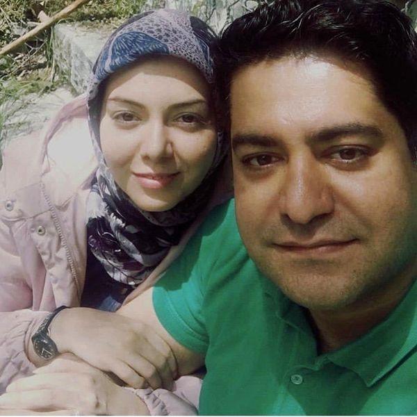 آزاده نامداری در آغوشهمسرش + عکس