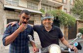 حمید گودرزی با موتور لاکچریش در خیابان + عکس