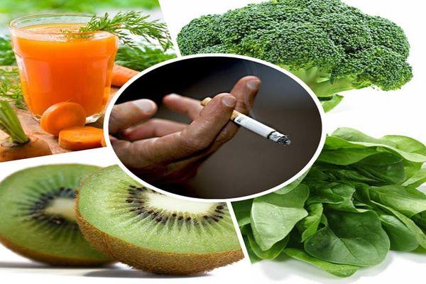 خوراکیهایی که نیکوتین را از بدن دفع میکنند
