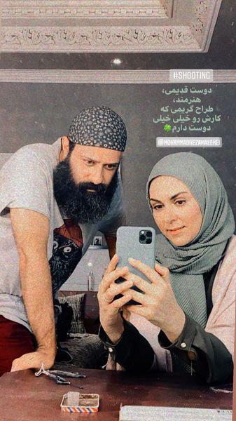 شیوا ابراهیمی و دوست گریمورش + عکس