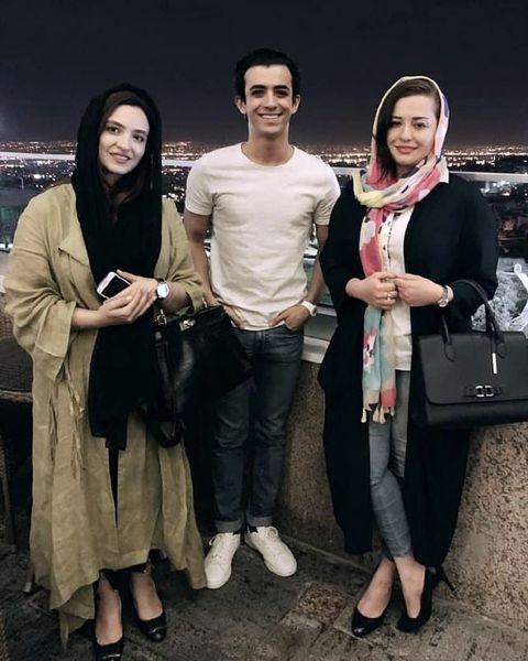 علی شادمان در بین خانم های بازیگر + عکس