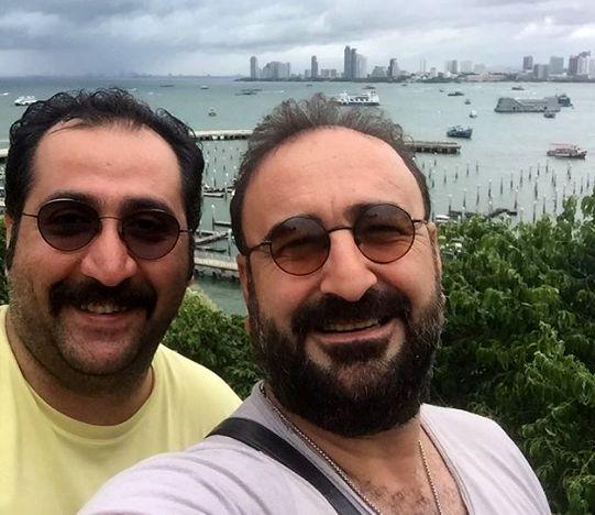 مهران احمدی و رفیق جدیدش در خارج+عکس