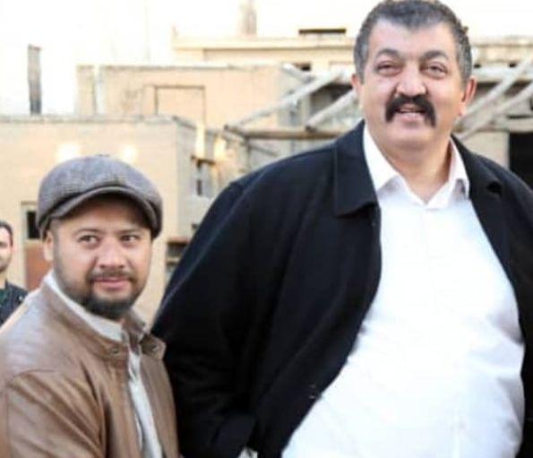 مرد باهیبت سینما در کنار مرد نمکی سینما+عکس
