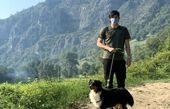 سردار آزمون و سگش + عکس